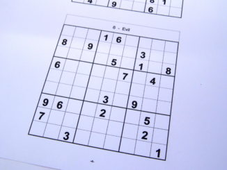 graphic relating to Free Printable Sudoku 6 Per Page identified as 6 puzzles for each webpage Sudoku Daddy
