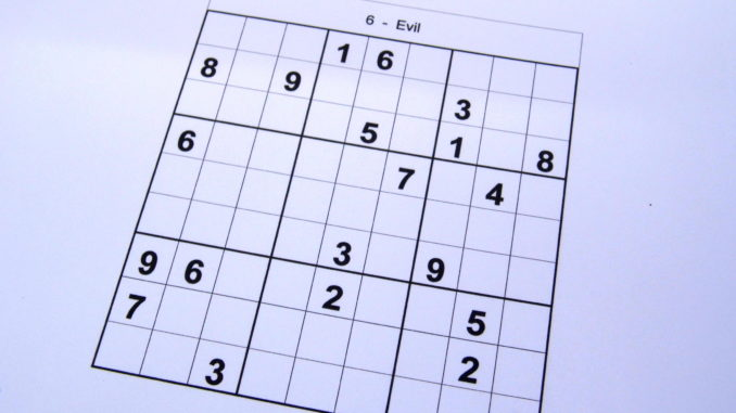 It's just a picture of Medium Sudoku Printable in couple